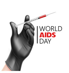 world aids day awareness hiv prevention vector image