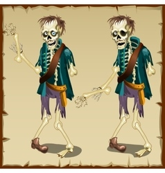 Zombie cartoon character for animation vector