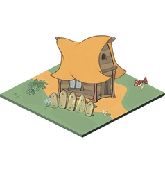 A video game object an old house vector image vector image