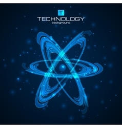 Abstract atom model vector image