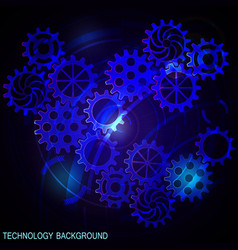 abstract futuristic digital technology background vector image vector image