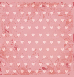 beautiful pink vintage background vector image vector image