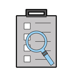 checklist order delivery service with magnifying vector image vector image