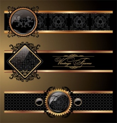 ornate decorative vector image vector image