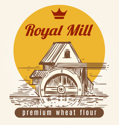royal mill banner design vector image