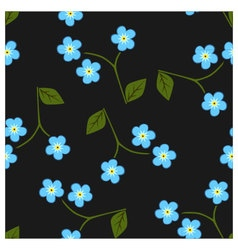 Seamless pattern forget me not vector image