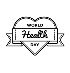 World health day greeting emblem vector