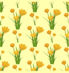 beautiful flower tulip seamless pattern background vector image
