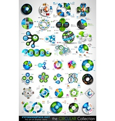 Circular Infographics BIG collection for your vector image vector image
