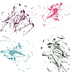 color splatter paint abstract on white background vector image