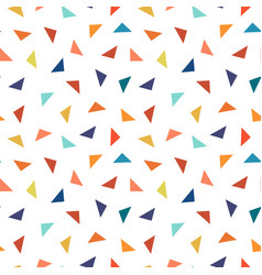colorful geometric seamless pattern with triangles vector image vector image