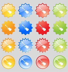 Guitar icon sign Big set of 16 colorful modern vector image vector image