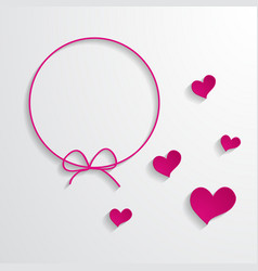 pink frame and hearts vector image vector image