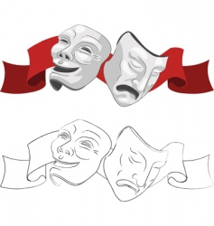 trical masks vector image vector image