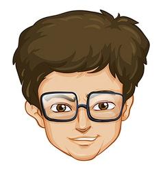 A head of a man vector image vector image