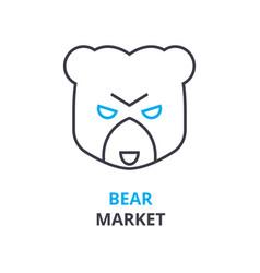 bear market concept outline icon linear sign vector image