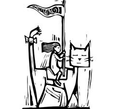 Cat Rider vector image