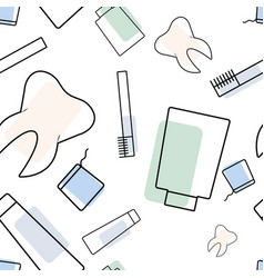 seamless dentist pattern vector image