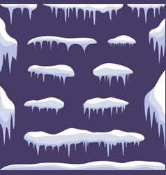 snow ice set vector image vector image