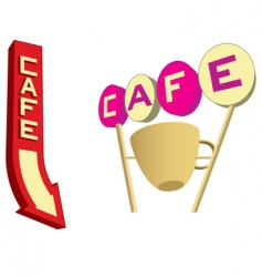 cafe signs vector image