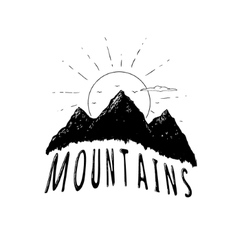 Graphic mountains vector image vector image