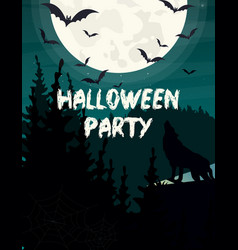 halloween party invitation or vector image