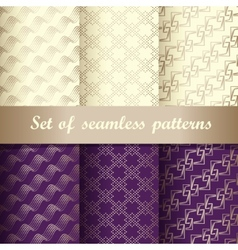 Set of seamless patterns 2 vector image vector image