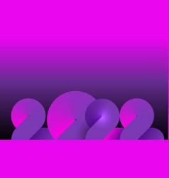 2022 neon banner happy new year on dark purple s vector image