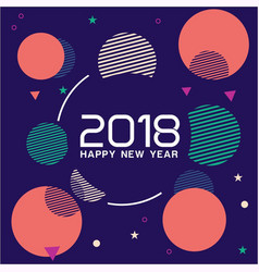 abstract background of 2018 vector image