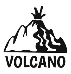 active volcano logo simple style vector image
