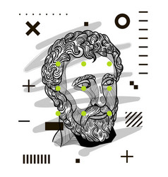 agora dot modern classical sculpture design vector image