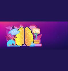 Alzheimer disease concept banner header vector