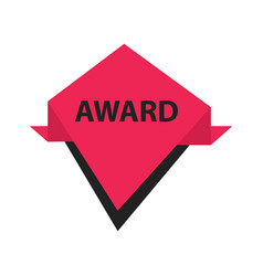 Award label design black pink vector