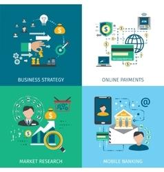 Banking Marketing Icons Set vector