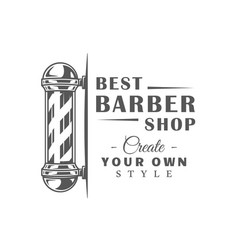 barbershop label isolated on white background vector image