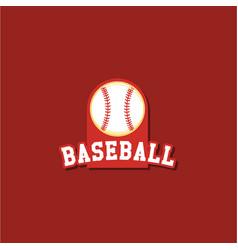 Baseball logo template design vector