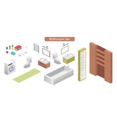 bathroom modern interior vector image
