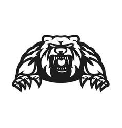 Bear mascot logo silhouette version vector
