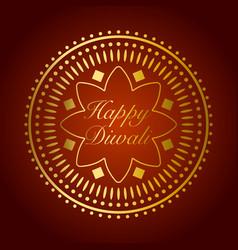 Beautiful gold ornament for diwali celebration vector