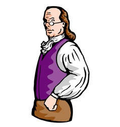 Benjamin franklin noble aristocratic vector