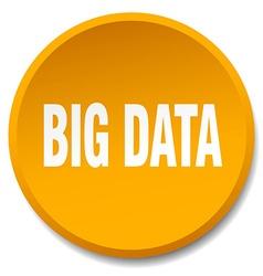 big data orange round flat isolated push button vector image