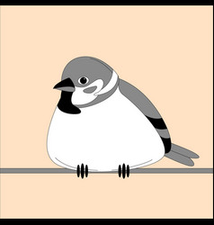 bird sparrow flat style vector image
