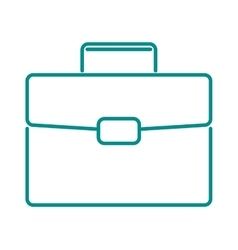 briefcase suitcase thin icon luggage business bag vector image