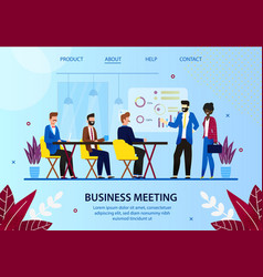 business meeting leader with employees in office vector image