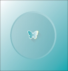 butterflys blue background vector image