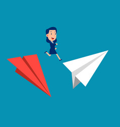 Change investment direction jumps from one plane vector