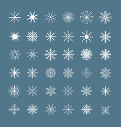 christmas snowflake set vector image