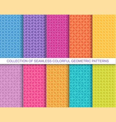 Collection bright colorful seamless vector