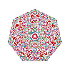 Colorful geometrical ornate abstract floral vector
