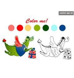 Dragon color vector